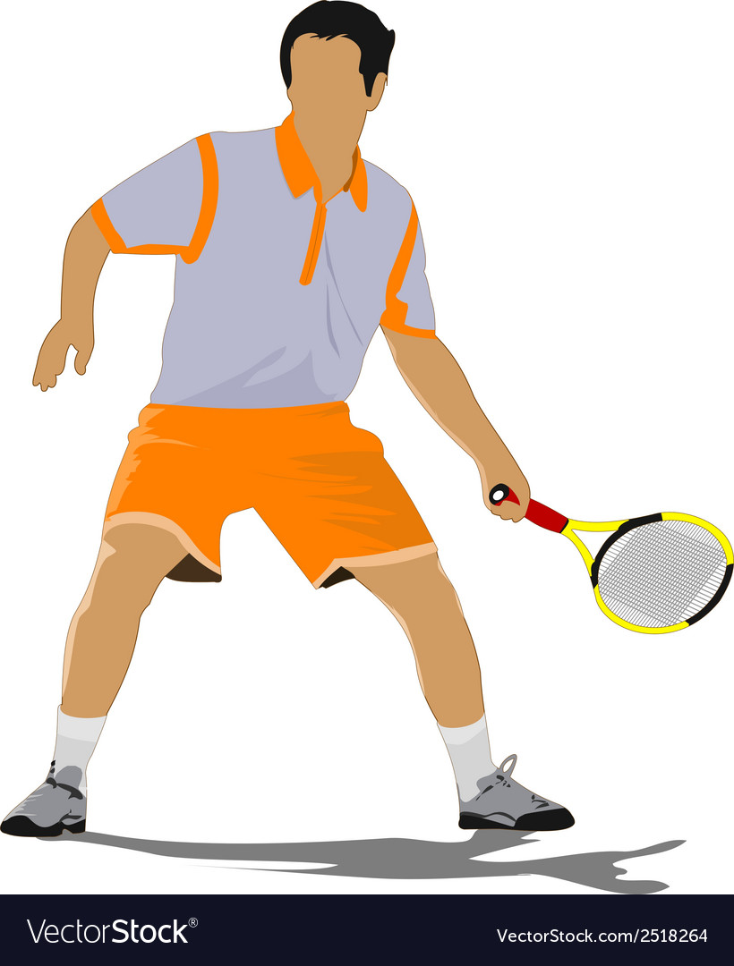 Al 0311 tennis player 02 vector | Price: 1 Credit (USD $1)