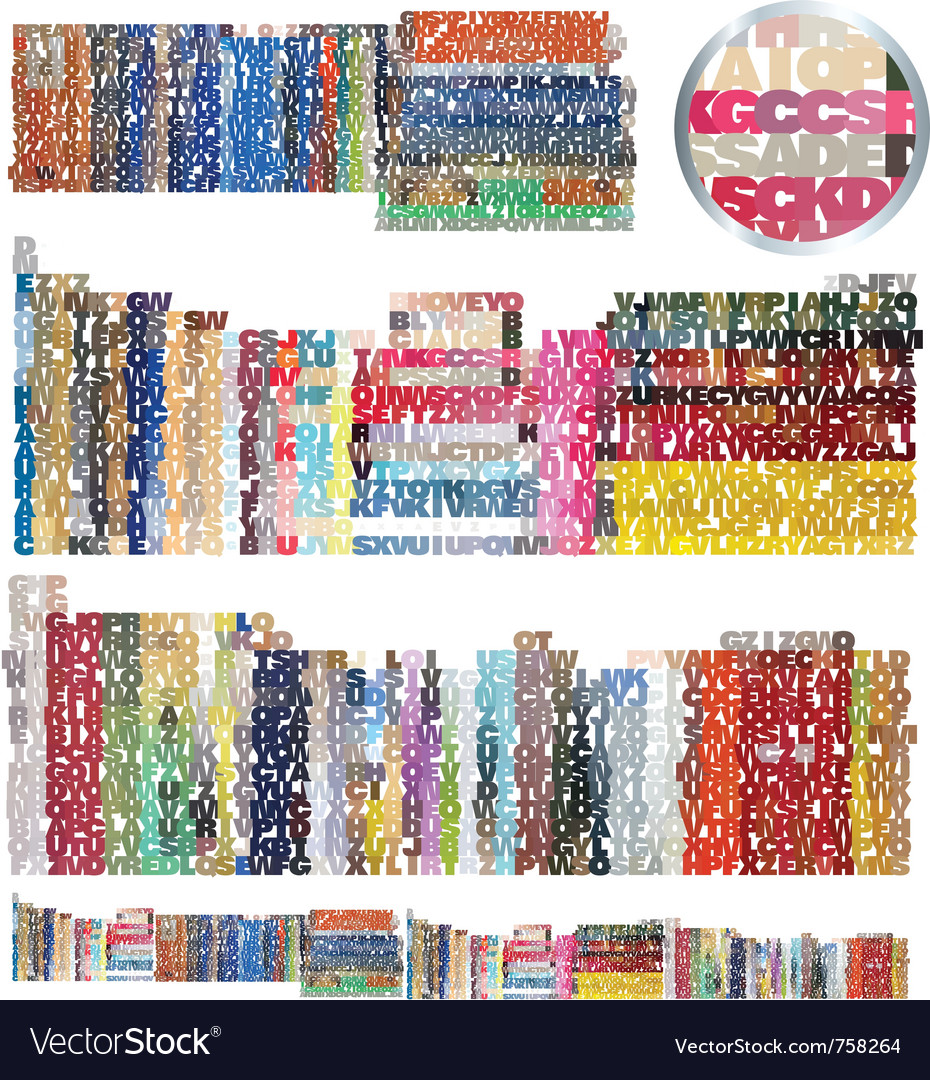 Bookstore library set vector | Price: 1 Credit (USD $1)