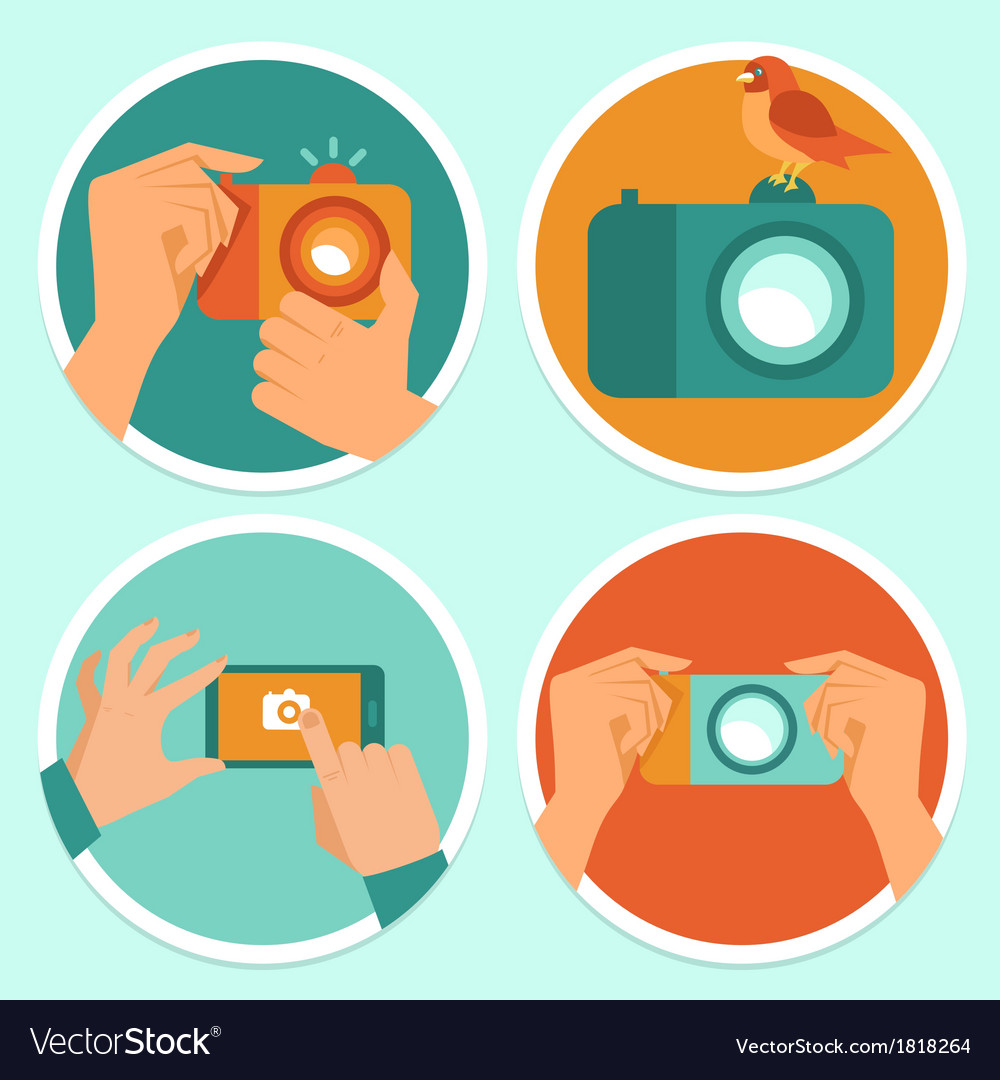 Cameras and mobile photography vector | Price: 1 Credit (USD $1)