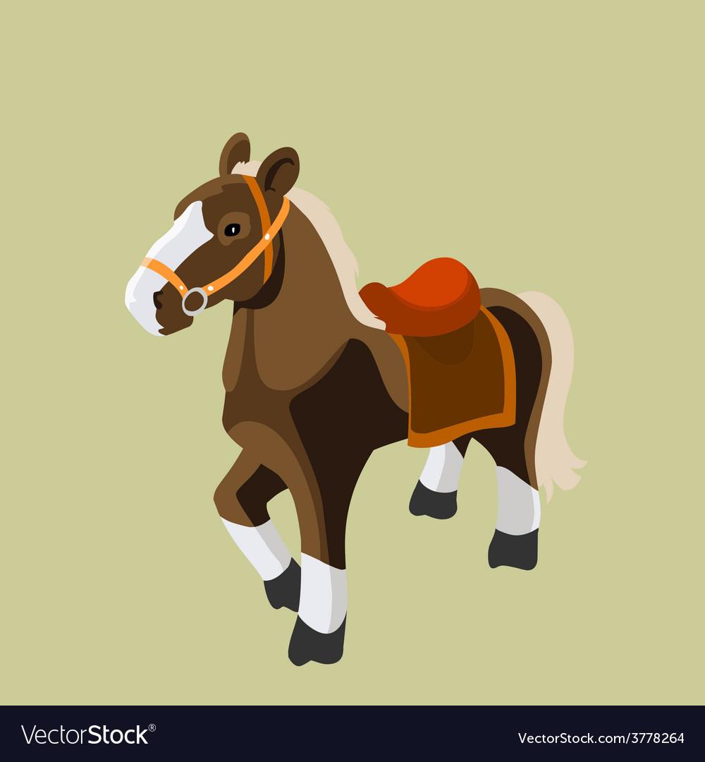 Cartoon horse vector   Price: 3 Credit (USD $3)