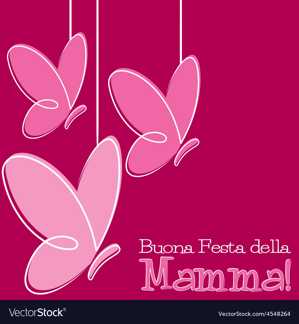 Hand drawn italian happy mothers day card in vector | Price: 1 Credit (USD $1)