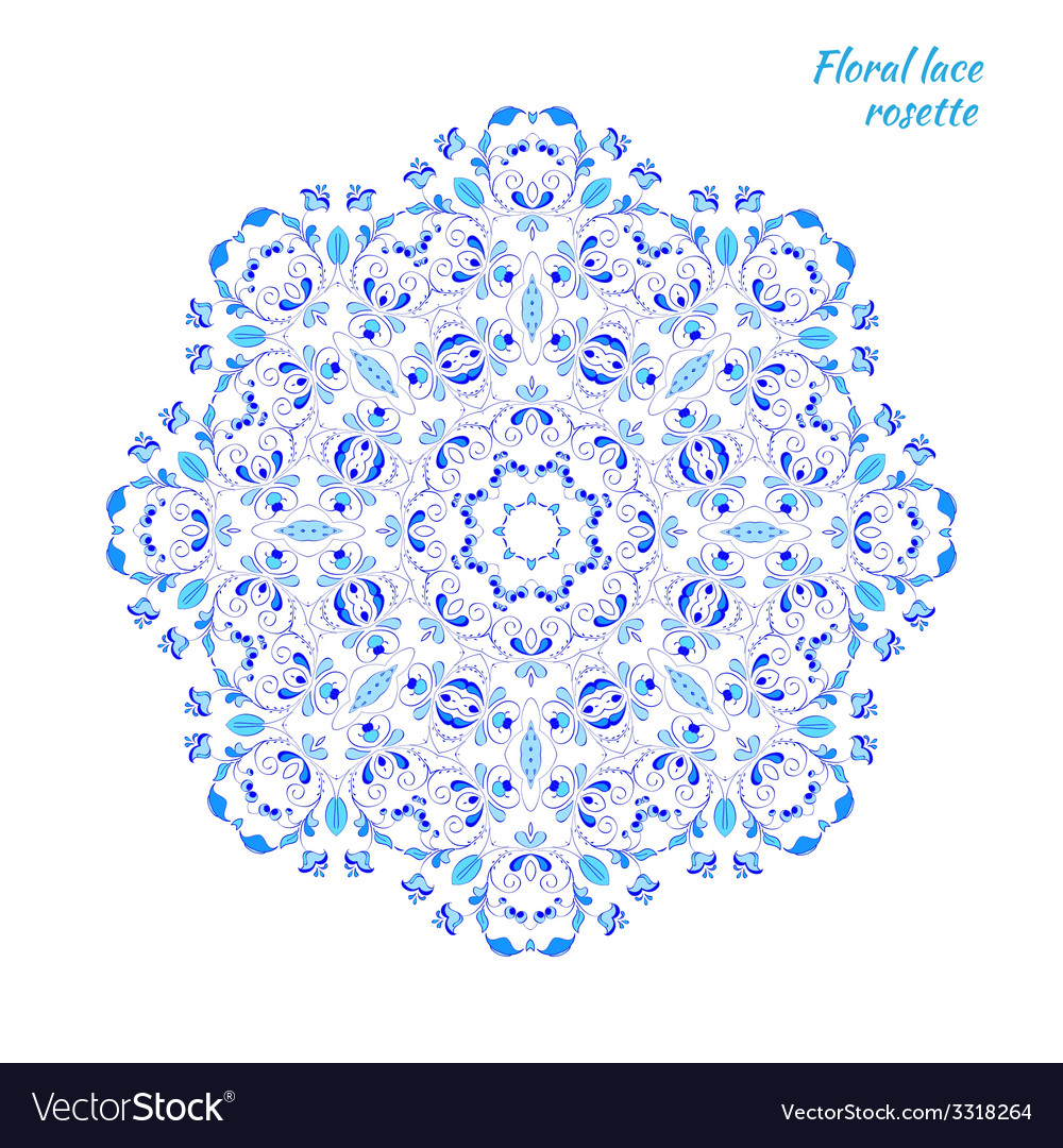 Lacy pattern of flowers vector | Price: 1 Credit (USD $1)
