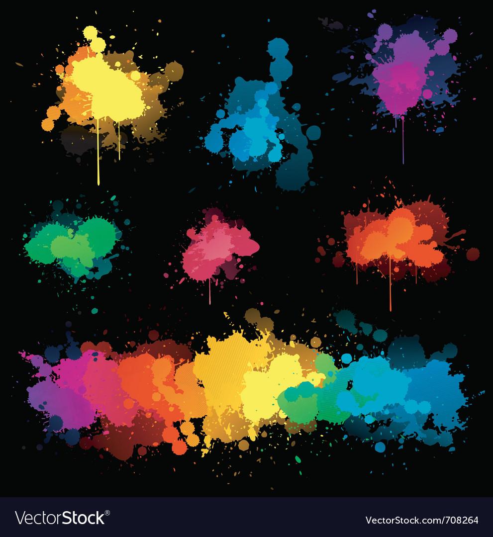 Paint splat s vector | Price: 1 Credit (USD $1)