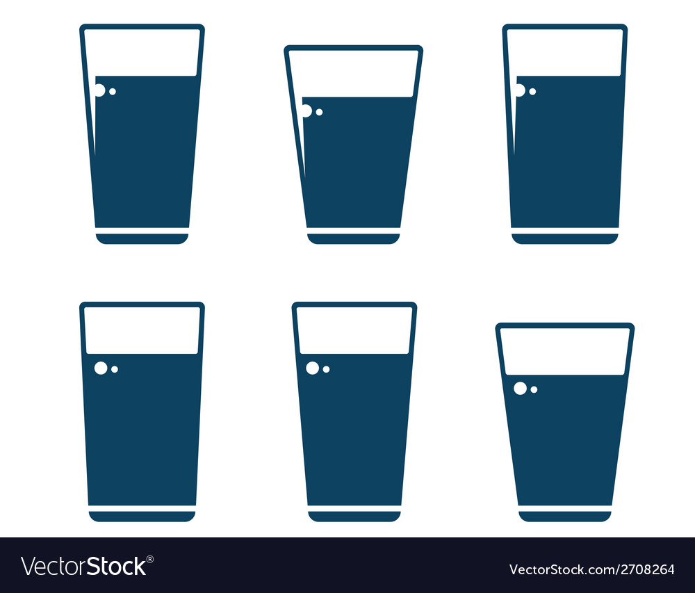 Set of water glass icons vector | Price: 1 Credit (USD $1)