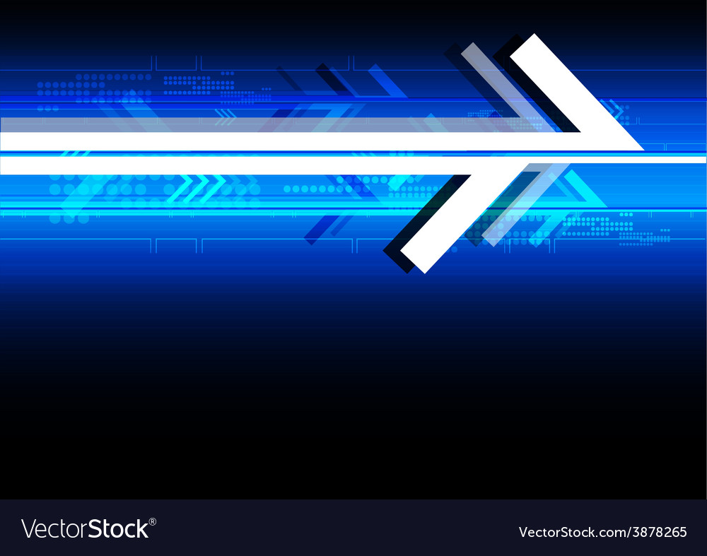 Abstract arrow technology background vector | Price: 1 Credit (USD $1)