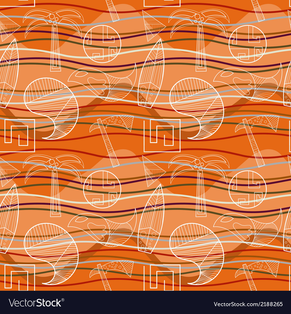 Abstract seamless pattern with stylized vector | Price: 1 Credit (USD $1)
