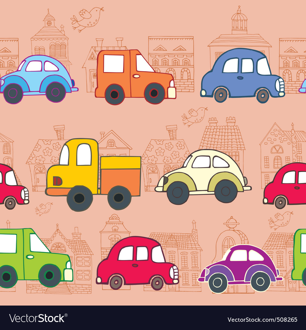 Cars pattern vector | Price: 1 Credit (USD $1)