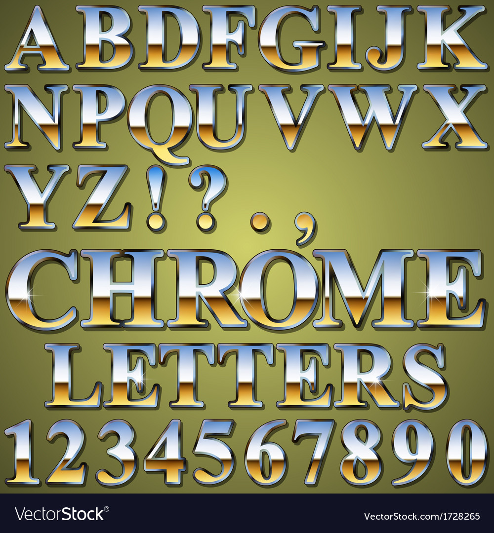 Chrome metal letters vector | Price: 1 Credit (USD $1)