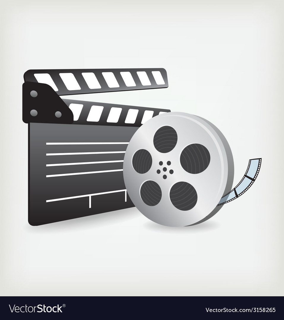 Film slate with movie film vector | Price: 1 Credit (USD $1)