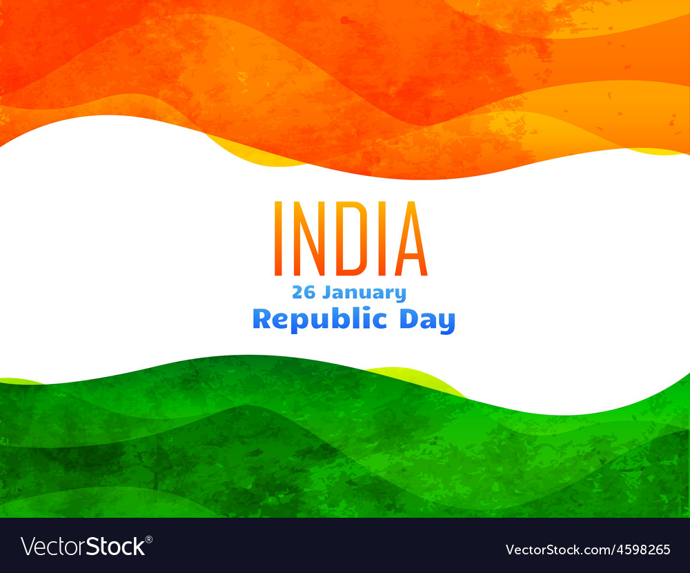 Indian republic day design made with texture vector | Price: 1 Credit (USD $1)