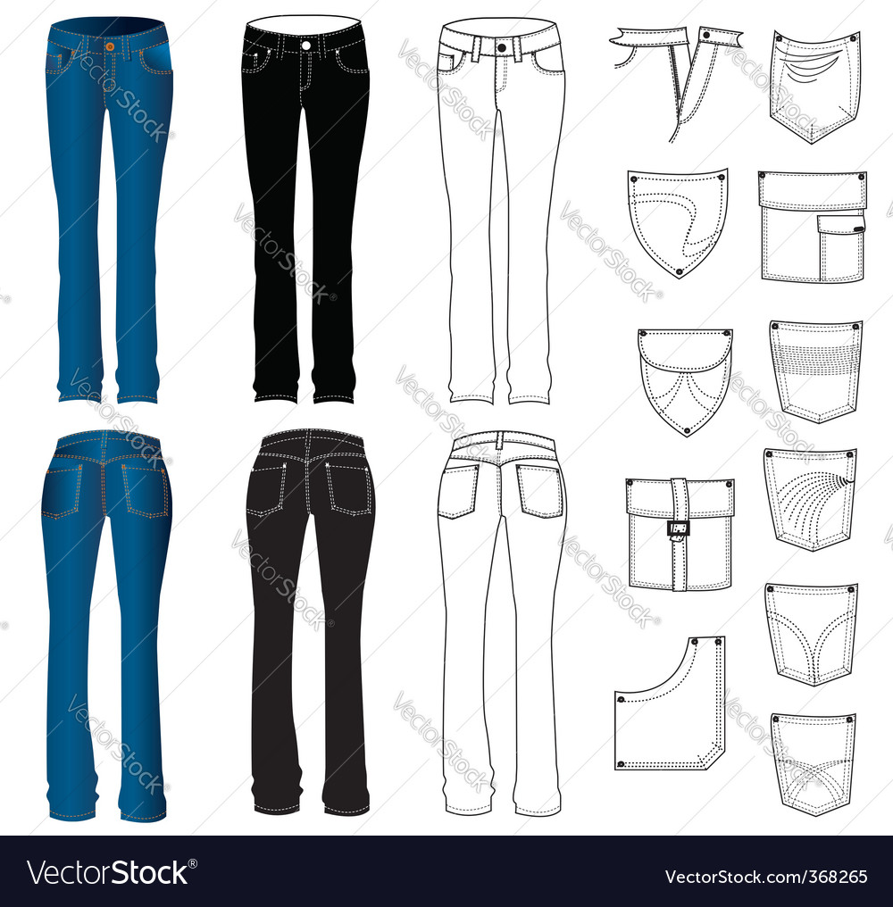 Jeans woman vector   Price: 3 Credit (USD $3)