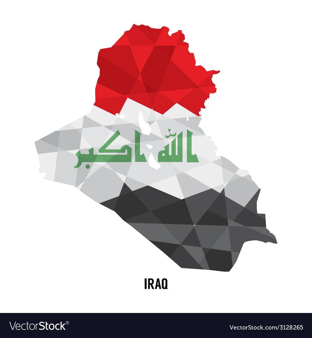 Map of iraq vector | Price: 1 Credit (USD $1)