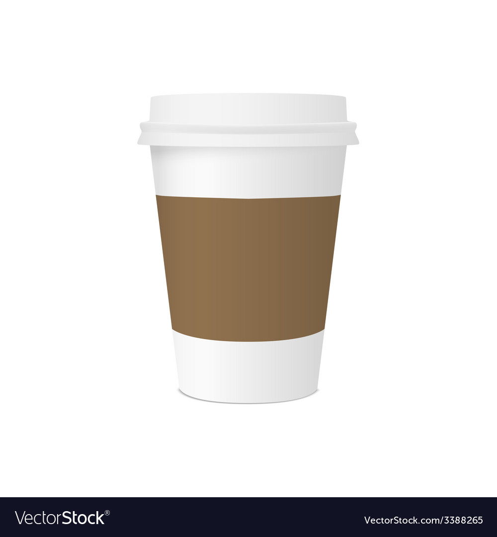 Paper cup for coffee vector | Price: 1 Credit (USD $1)