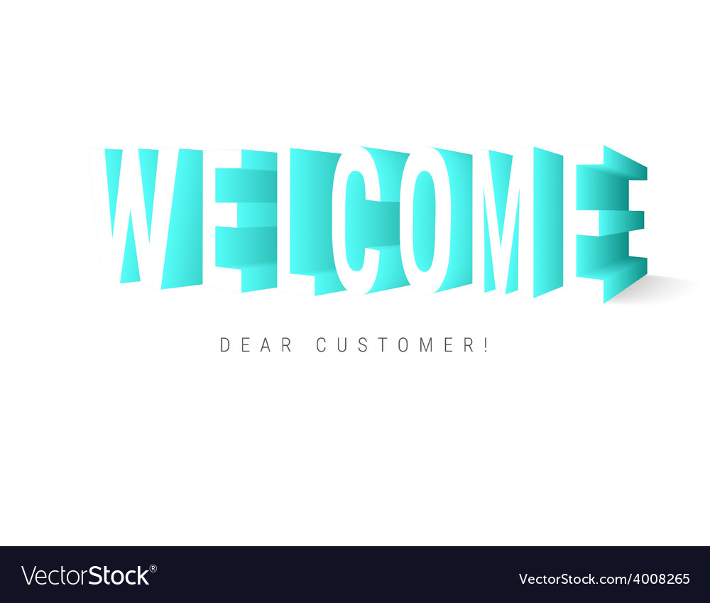 Welcome message vector | Price: 1 Credit (USD $1)