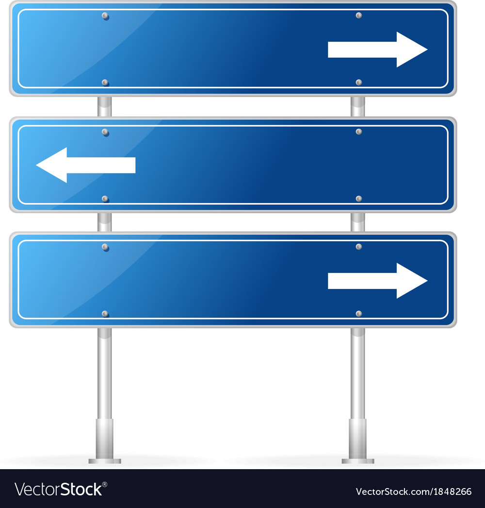 Blank traffic sign with white arrow vector | Price: 1 Credit (USD $1)