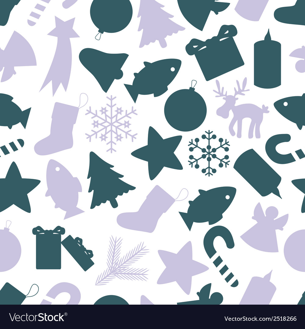Christmas icon color pattern eps10 vector | Price: 1 Credit (USD $1)
