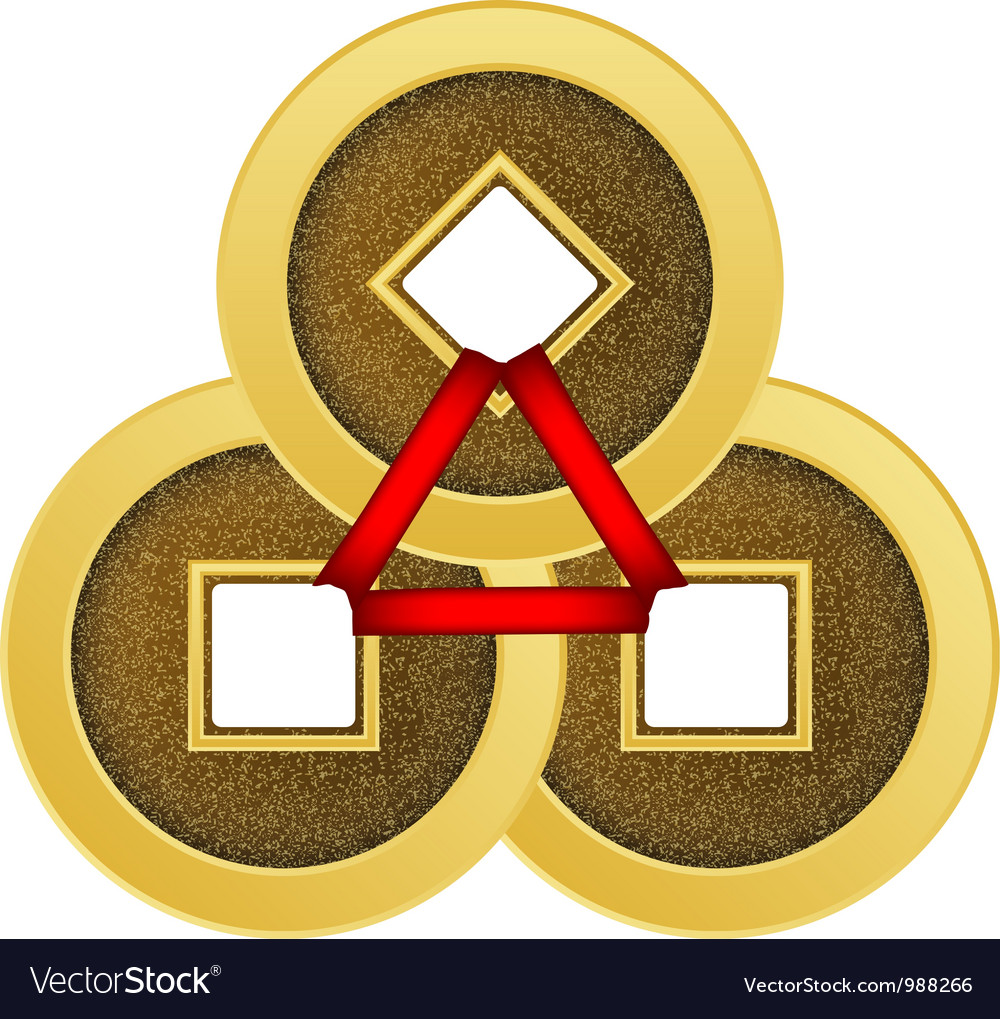 Feng shui coins vector | Price: 1 Credit (USD $1)