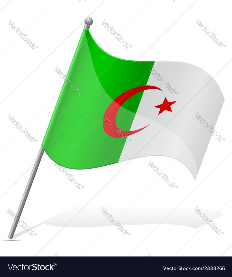 Flag of algerian vector | Price: 1 Credit (USD $1)