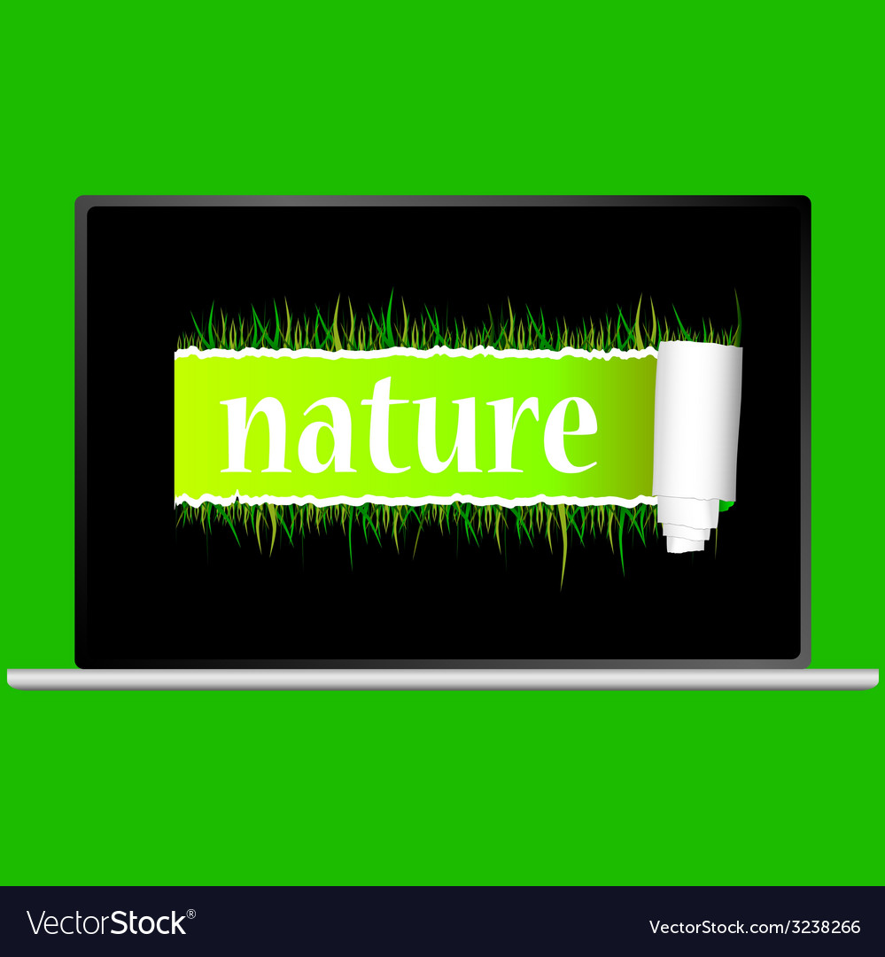 Nature with grass vector | Price: 1 Credit (USD $1)