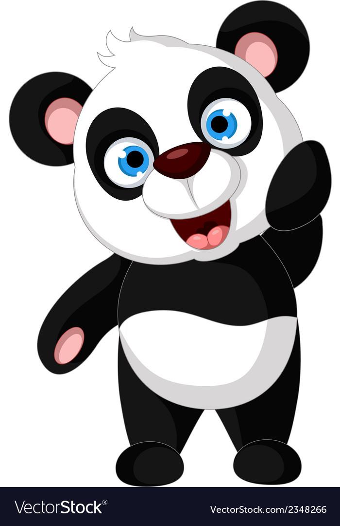 Panda cartoon posing vector | Price: 1 Credit (USD $1)
