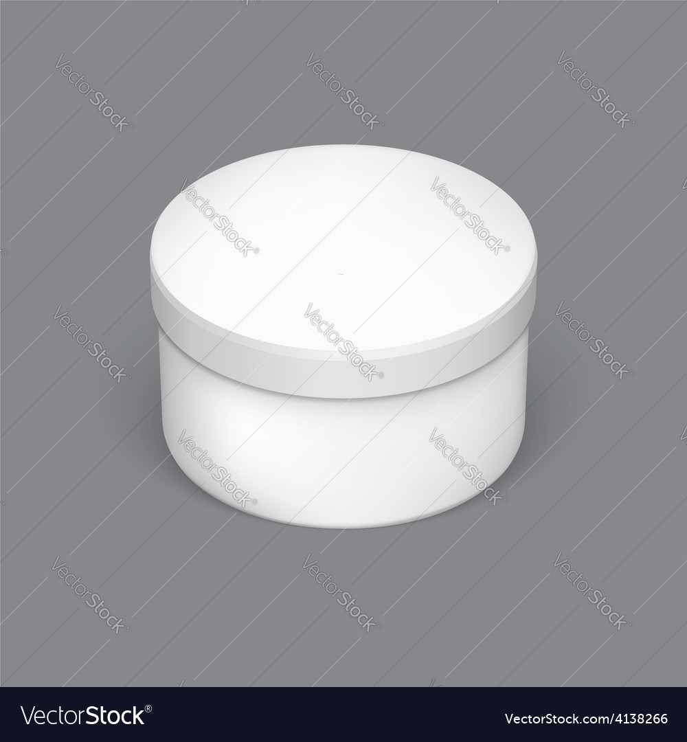 Realistic round package box for products vector | Price: 1 Credit (USD $1)