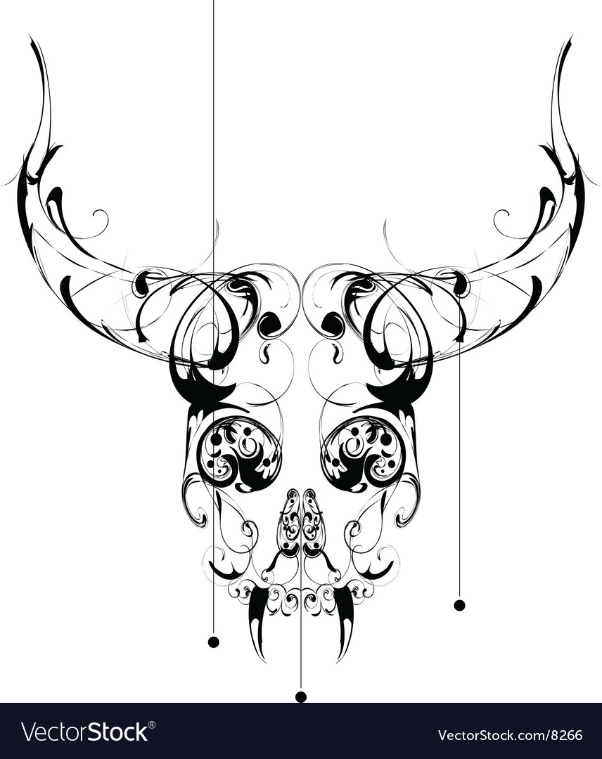 Skull pattern vector | Price: 3 Credit (USD $3)