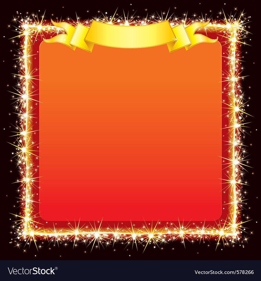 Sparkling bright frame vector | Price: 1 Credit (USD $1)