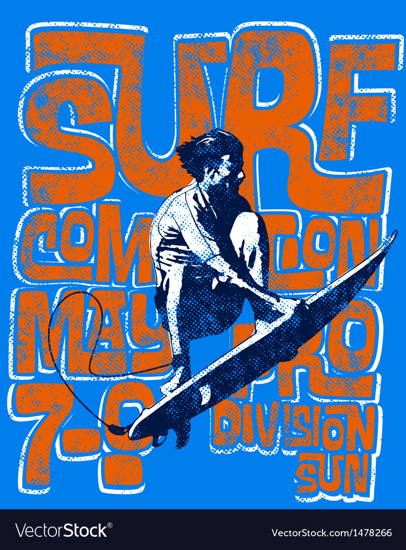 Surf men vector