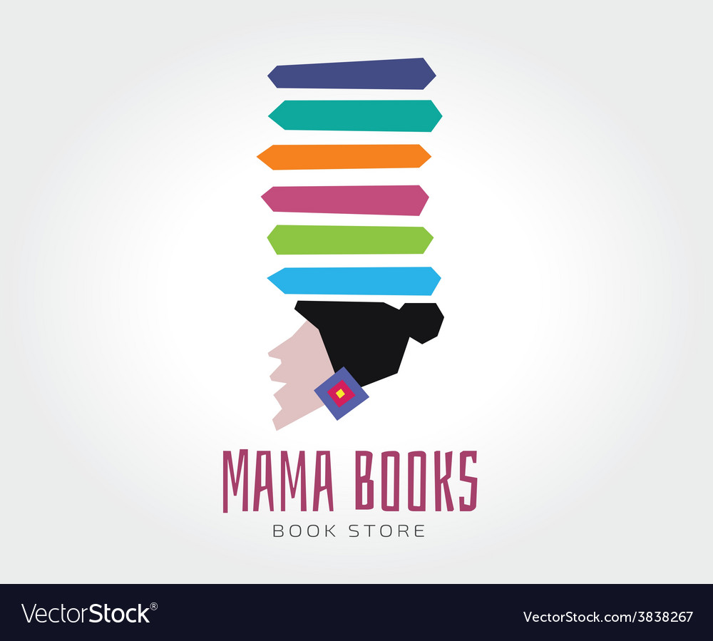 Abstract mama books logo template for vector | Price: 1 Credit (USD $1)
