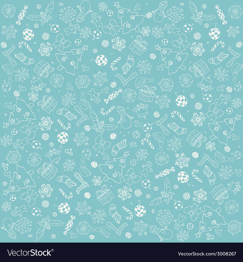 Christmas doodles background vector | Price: 1 Credit (USD $1)