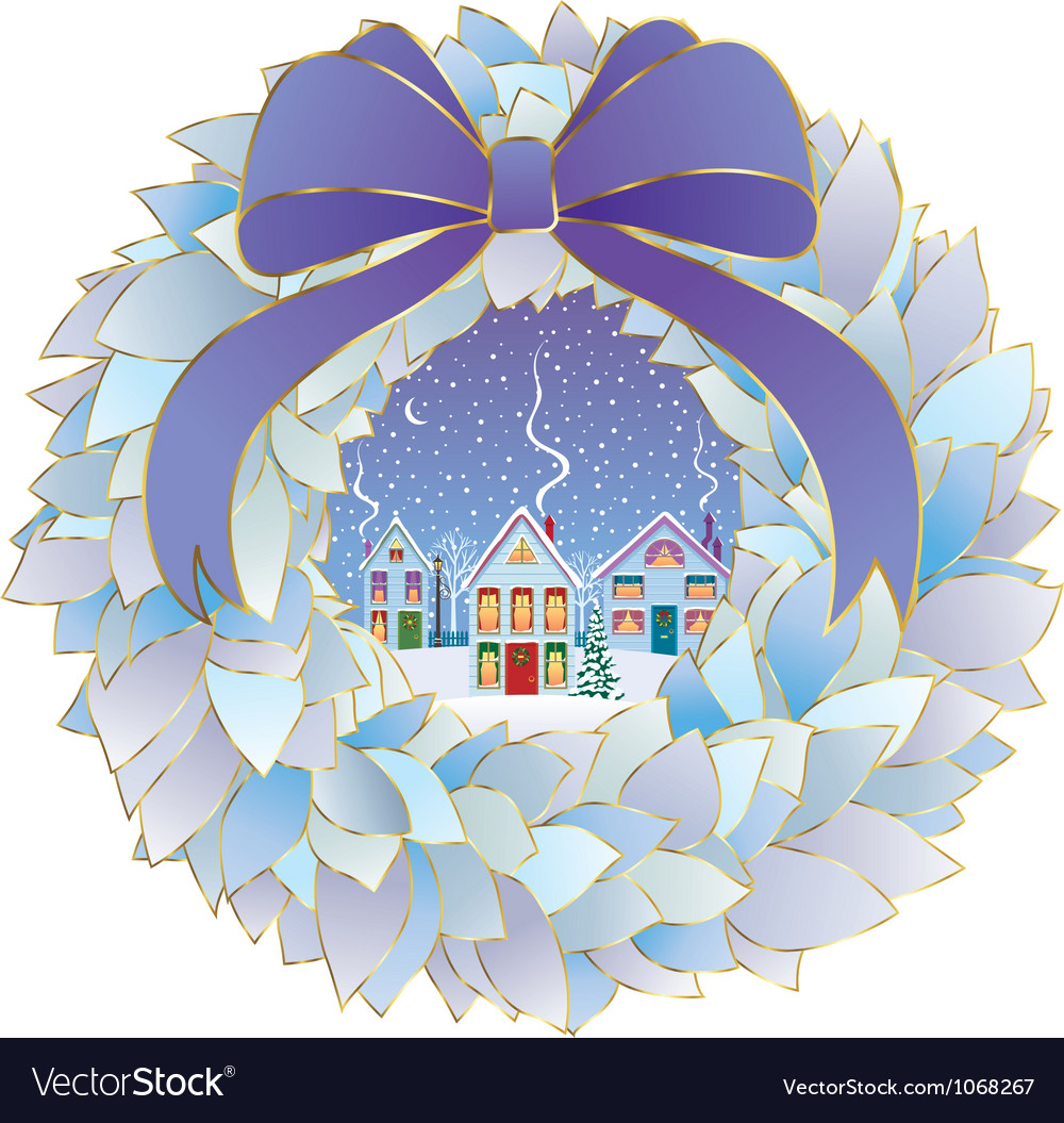 Christmas idyll vector | Price: 1 Credit (USD $1)