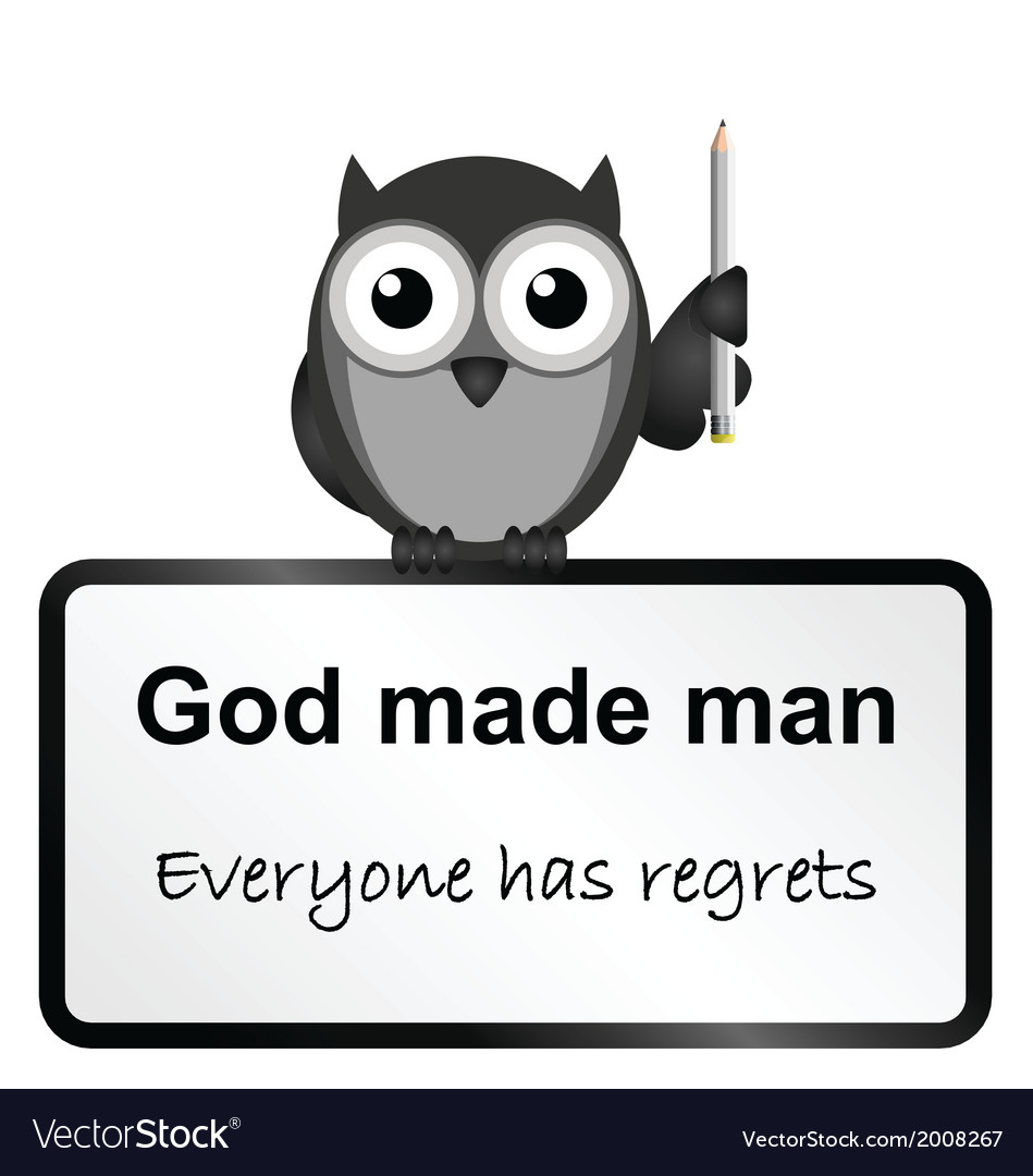 God made man vector | Price: 1 Credit (USD $1)
