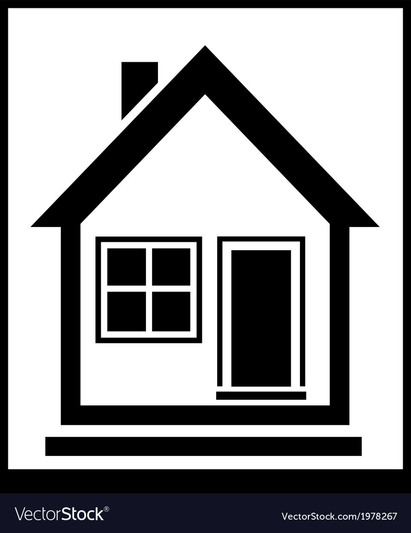 Isolated home silhouette vector | Price: 1 Credit (USD $1)