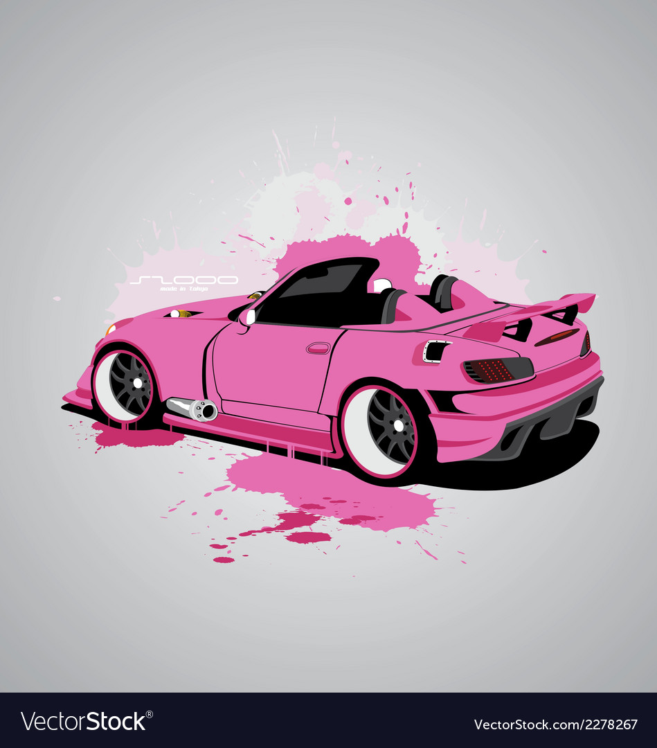 Pink s2000 vector | Price: 1 Credit (USD $1)