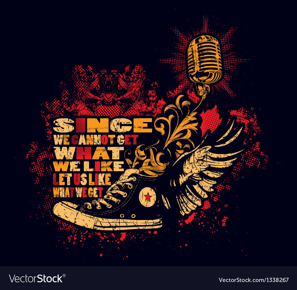 Punk shoes and microphone vector | Price: 3 Credit (USD $3)