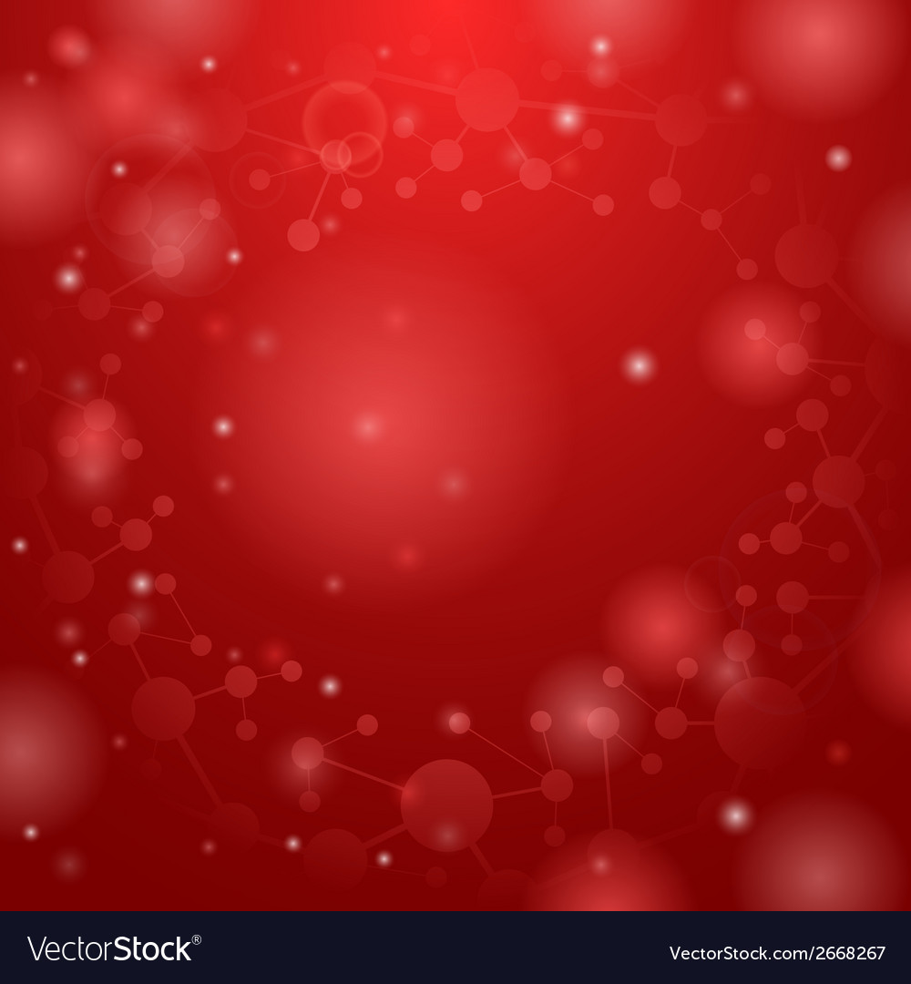Red molecules background vector | Price: 1 Credit (USD $1)