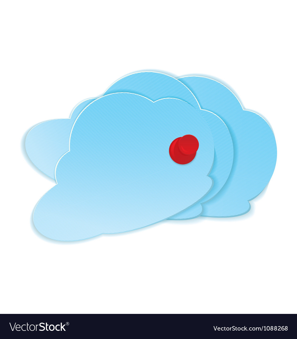 Clouds with pushpin vector | Price: 1 Credit (USD $1)