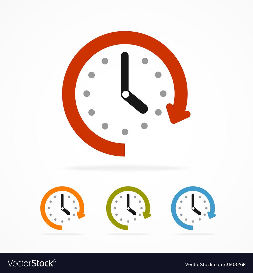 Color clock icon vector | Price: 1 Credit (USD $1)