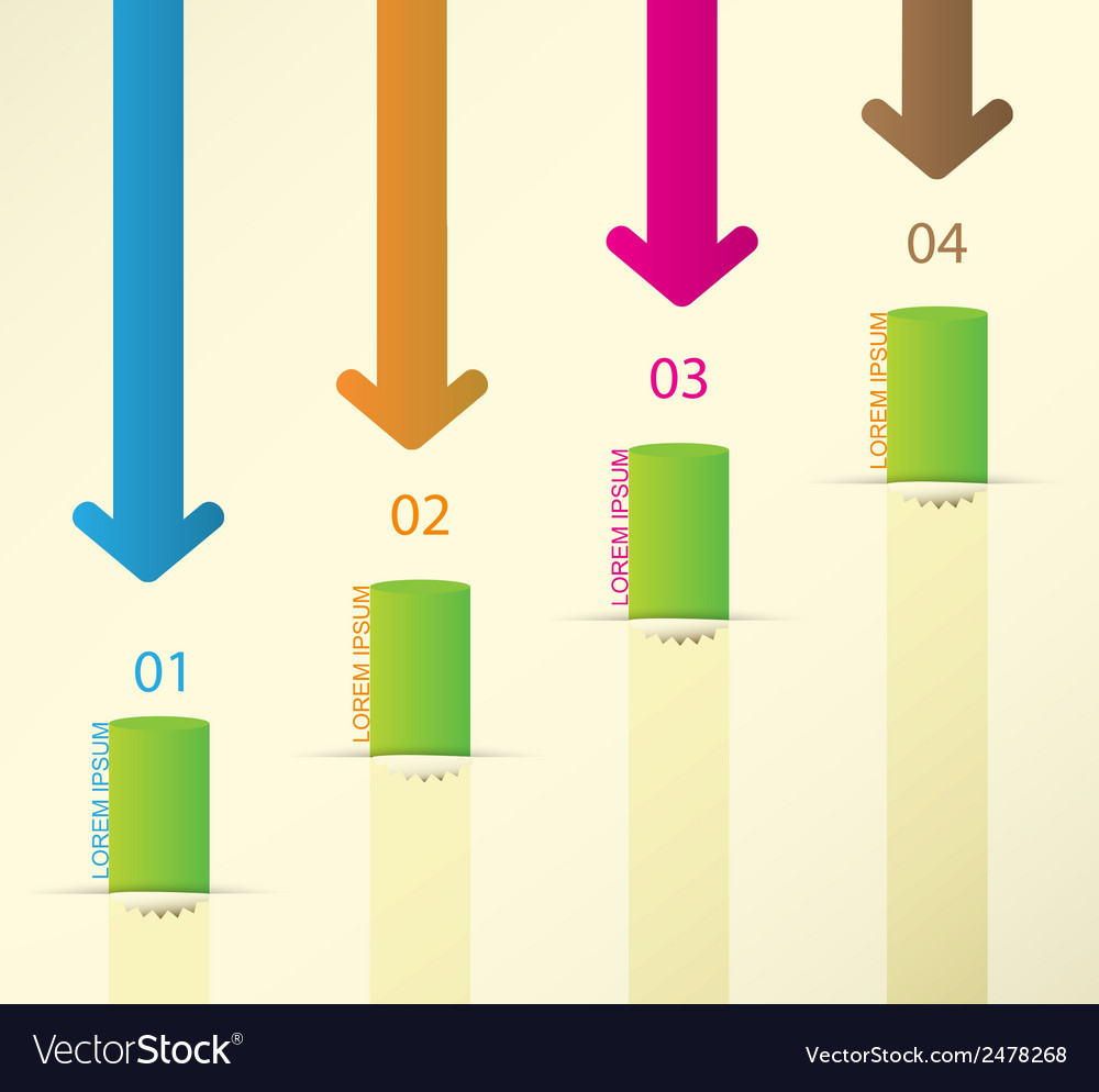 Different way infographics set vector | Price: 1 Credit (USD $1)