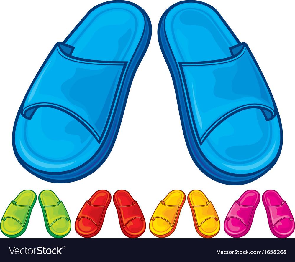 Flip flops set - slippers vector | Price: 1 Credit (USD $1)