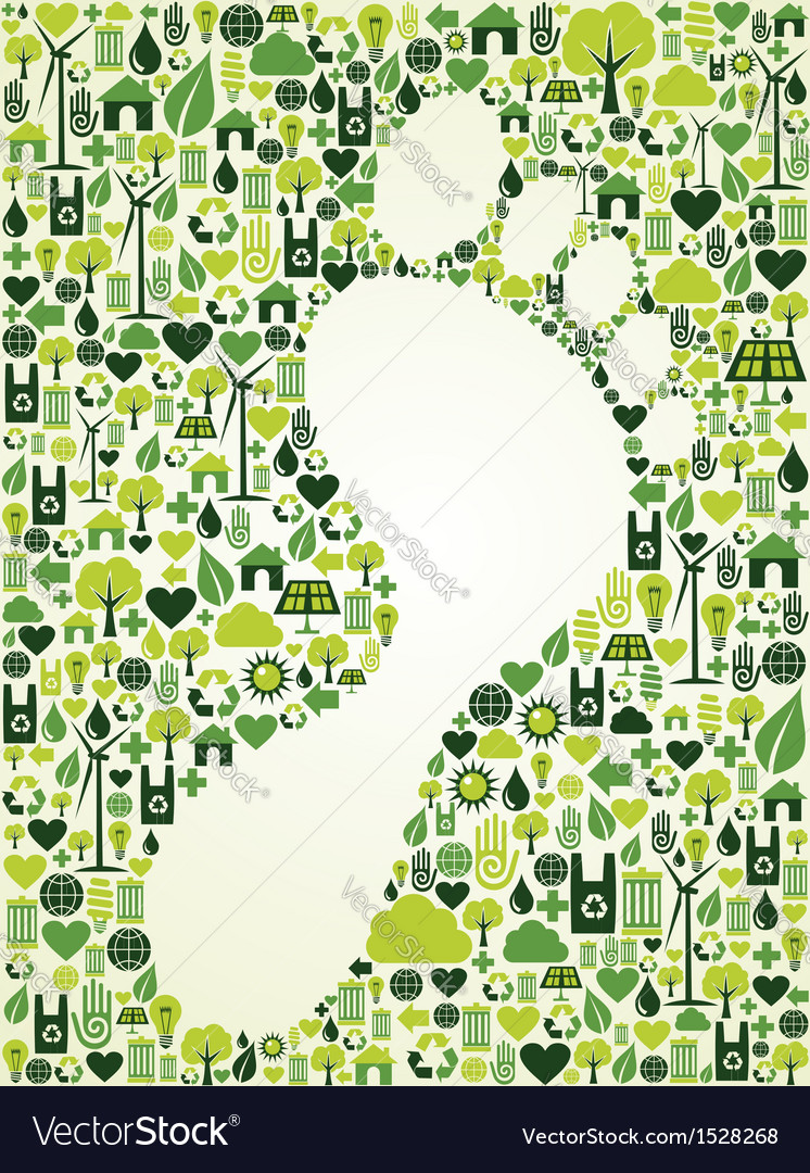 Green foot print design vector | Price: 1 Credit (USD $1)