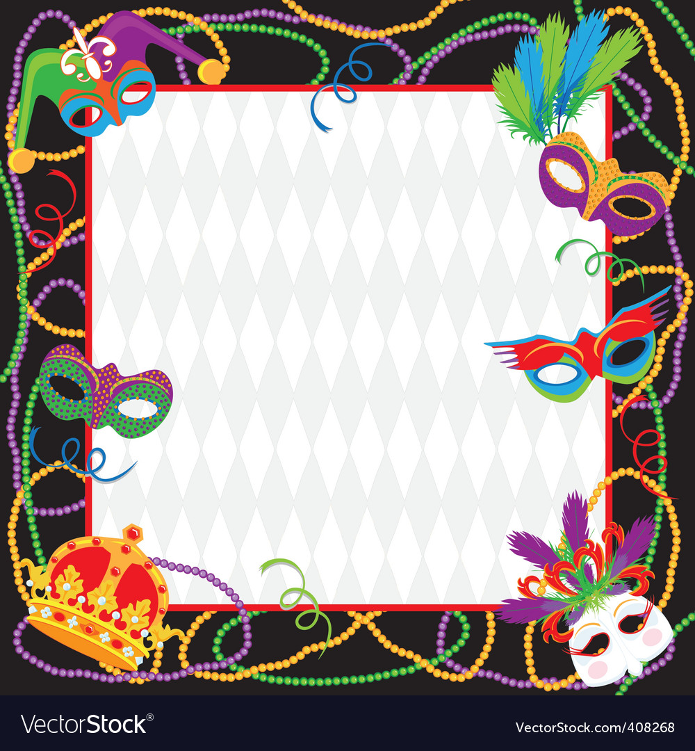 Mardi gras party invitation vector | Price: 3 Credit (USD $3)