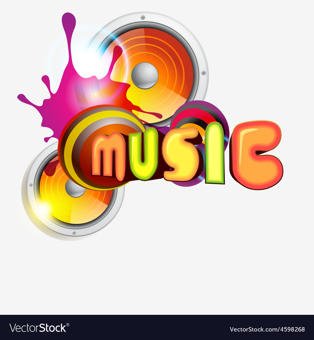 Music colorful vector | Price: 1 Credit (USD $1)