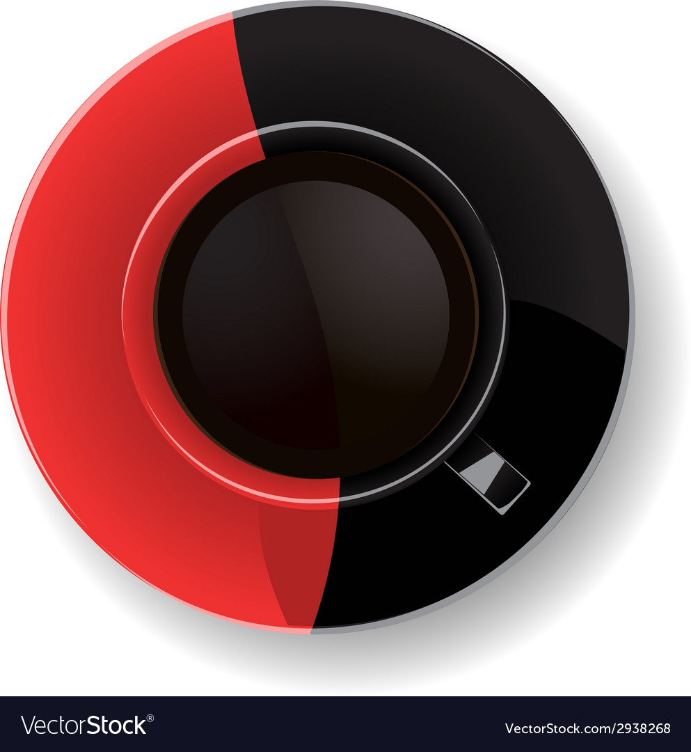 Red and black coffee cup vector | Price: 1 Credit (USD $1)