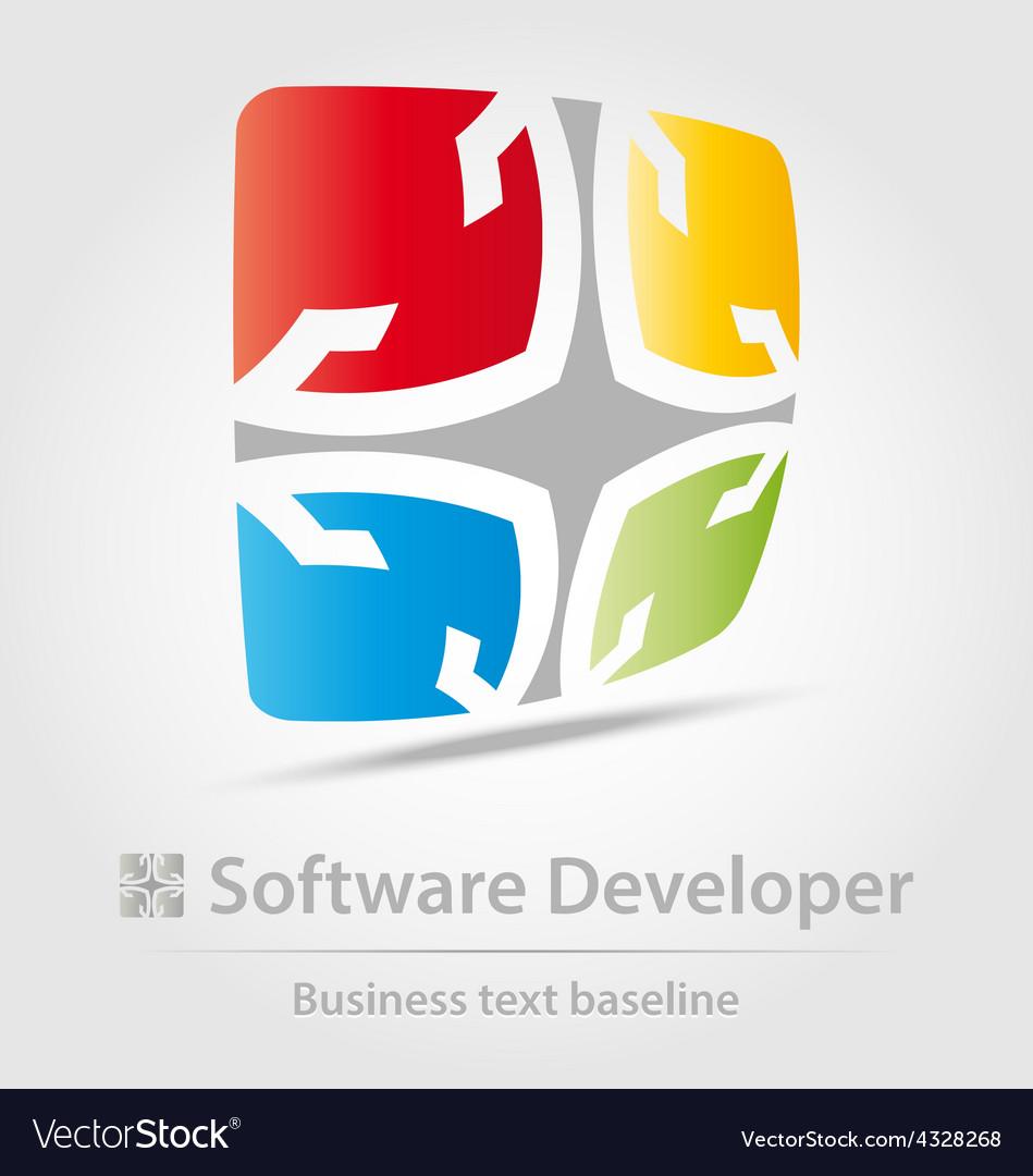 Software developer business icon vector | Price: 1 Credit (USD $1)