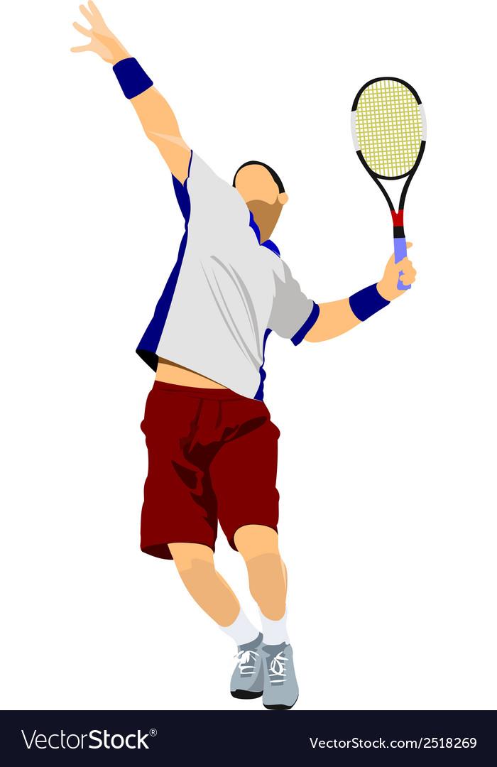 Al 0311 tennis player 03 vector | Price: 1 Credit (USD $1)