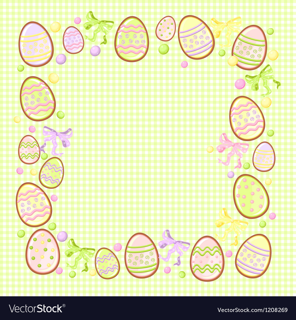 Background for messages with egg green vector | Price: 1 Credit (USD $1)