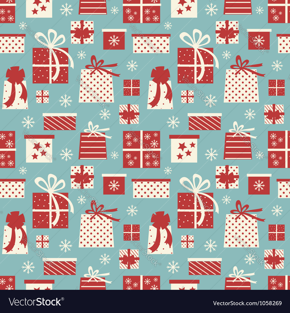 Christmas presents background vector | Price: 1 Credit (USD $1)