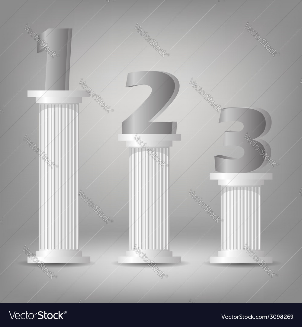 Greek columns vector | Price: 1 Credit (USD $1)