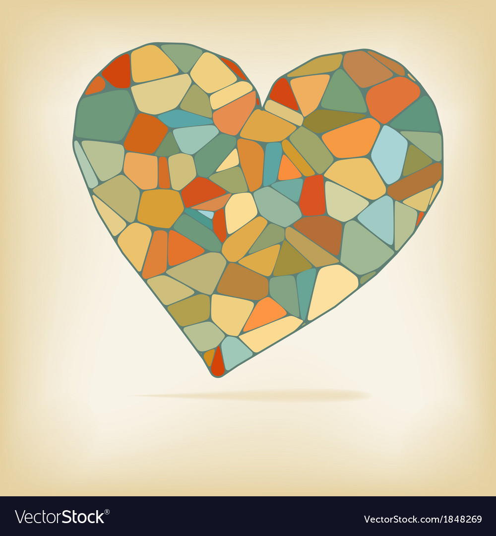 Retro heart made from color form  eps10 vector | Price: 1 Credit (USD $1)